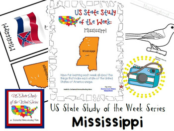 US State Study of the Week Weekly Series Mississippi Pack