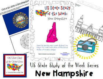 US State Study of the Week Weekly Series New Hampshire Pack