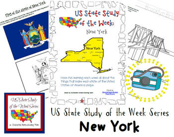 US State Study of the Week Weekly Series New York Pack