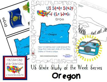 US State Study of the Week Weekly Series Oregon Pack