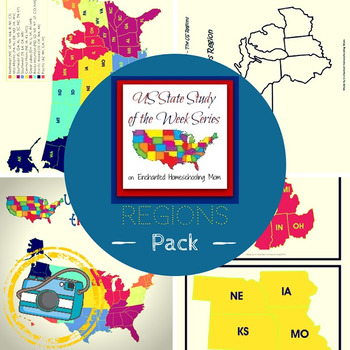 US State Study of the Week Weekly Series Regions Pack