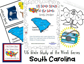 US State Study of the Week Weekly Series South Carolina Pack