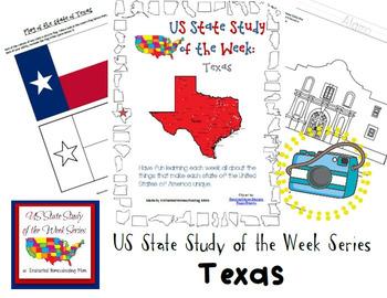 US State Study of the Week Weekly Series Texas Pack