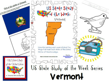 US State Study of the Week Weekly Series Vermont Pack