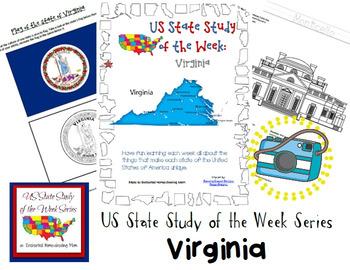 US State Study of the Week Weekly Series Virginia Pack