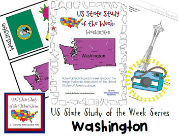 US State Study of the Week Weekly Series Washington Pack