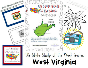 US State Study of the Week Weekly Series West Virginia Pack