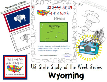 US State Study of the Week Weekly Series Wyoming Pack