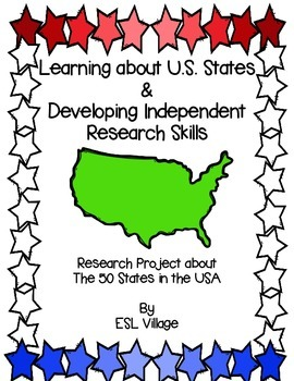 The 50 States in the USA (Research Project)