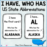 US State Abbreviations - I Have Who Has Game