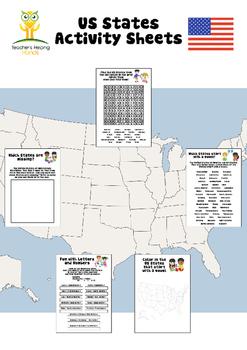 US States Activity Sheets