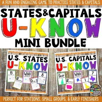 US States & Capitals Games Mini Bundle: U-Know