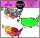 US States Clip Art Bundle {Educlips Clipart}