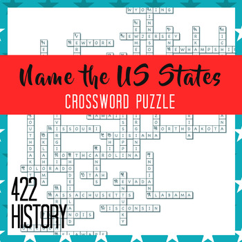 Us History Crossword Puzzles Teaching Resources Teachers Pay Teachers