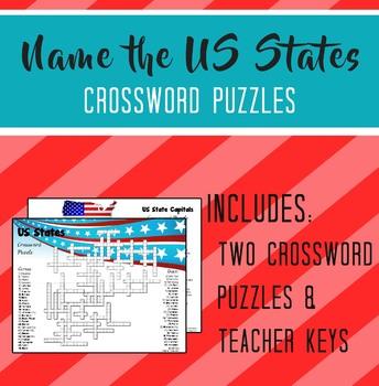 US States Crossword Puzzles