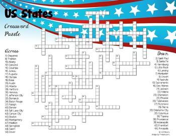 Us States Crossword Puzzles By 422history Teachers Pay Teachers - Crossword-puzzle-maps-in-us-history-answers