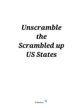 US States Scramble - No Hints - Unscramble the Scrambled up US States