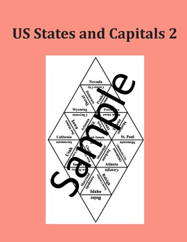 US States and Capitals 2 - Puzzle