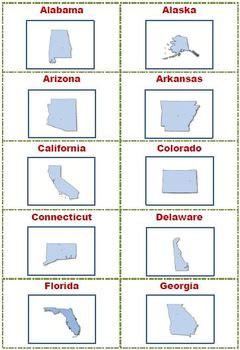 U.S. States and Capitals: A Matching Game