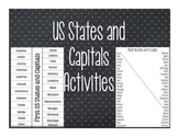 US States and Capitals Activities