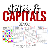 US States and Capitals BINGO
