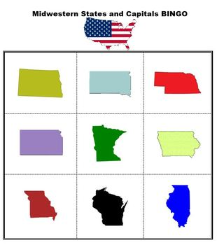US States and Capitals Bingo Bundle