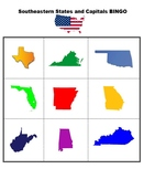 US States and Capitals Bingo Bundle