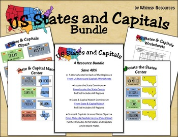 US States and Capitals Bundle