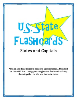 U.S. States and Capitals Flashcards