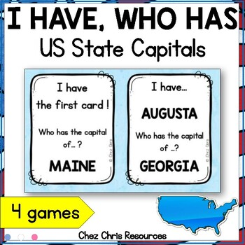 US States and Capitals - I Have Who Has Game