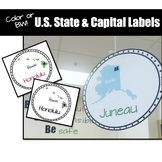 US States and Capitals Labels