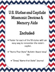 U.S. States and Capitals. Mnemonics Memory Devices aids. Bulletin Board