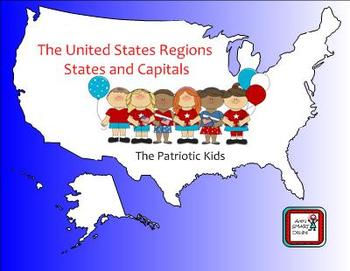 US States and Capitals SMARTboard Activities