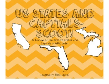 US States and Capitals Scoot First 25!
