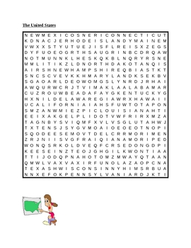 US States Wordsearch