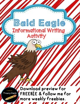 U.S. Symbol Bald Eagle Informational Writing-Freebie included in Preview
