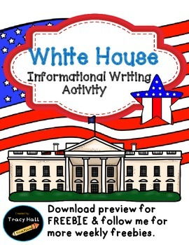 U.S. Symbol White House Informational Writing-Freebie incl