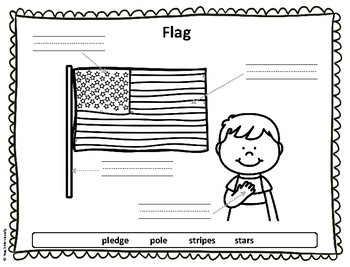 US Symbols - Puzzle Parts and Labeling Activities (Set of 6)