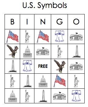 U.S. Symbols BINGO