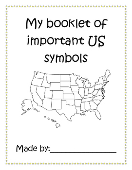 US Symbols Booklet