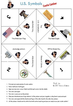 US Symbols Cootie Catcher