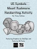 US Symbols, Mount Rushmore Handwriting