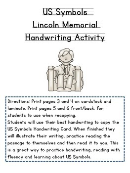 US Symbols, Lincoln Memorial Handwriting