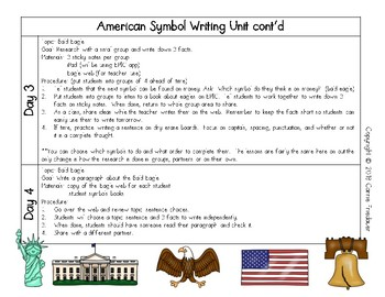 American Symbols Research and Writing Unit