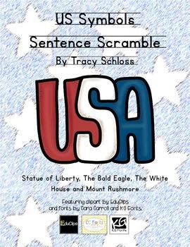 US Symbols Sentence Scramble-B