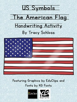 US Symbols, The American Flag, Stars and Stripes Handwriting