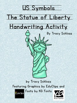 US Symbols, The Statue of Liberty Handwriting