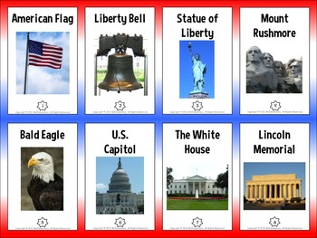 U.S. Symbols Trading Cards and Word Wall