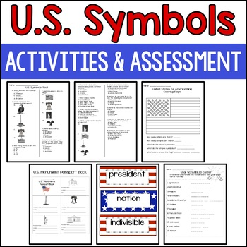 US Symbols Unit (with CENTERS and an ASSESSMENT!)