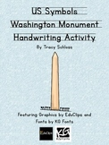 US Symbols, Washington Monument Handwriting